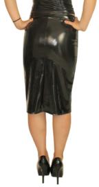 Strakke zwarte lak rok