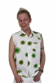 Heren blouse kiwi print