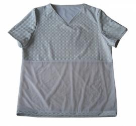 Heren shirt van lak en netstof