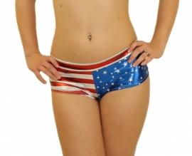 USA glitter hotpants