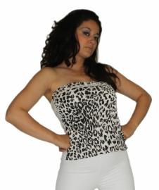 Wit met zwart topje