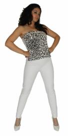 Witte mat-lak legging