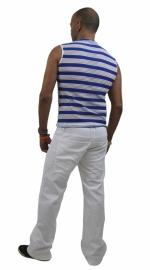 herenshirt blauw witte streep