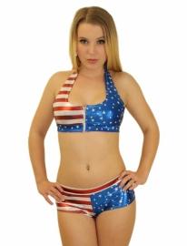 Usa glitter bikini