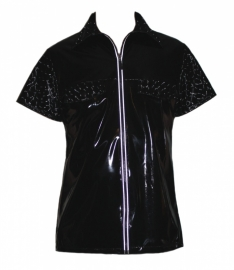 Heren lak shirt met hologram lak