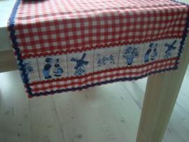 Delfts blauwe tafelloper