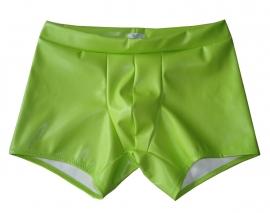 Neon groen leren heren short langer pijpje