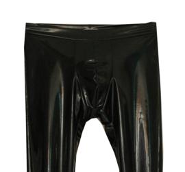 Zwarte lak heren legging