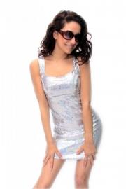 Wit pailletten jurkje