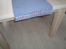 Boerenbont blauw-wit tafelloper