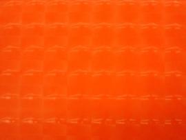 Oranje hologram stretch stretch lak met rek naar 4 kanten