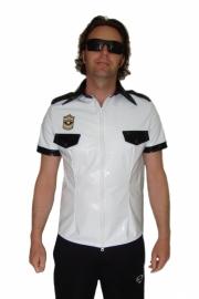 Lak shirt politie-look