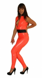 Mouwloze catsuit met taille band