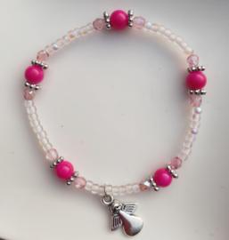 Zacht roze fuchsia armbandje