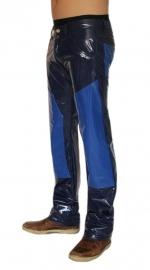 Heren lak broek in navy met royal blauw