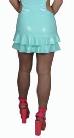 Lak mini rok met volants