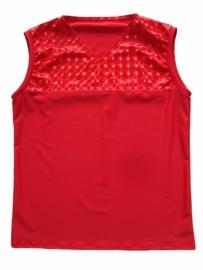 Rood shirt met hologram lak PVC