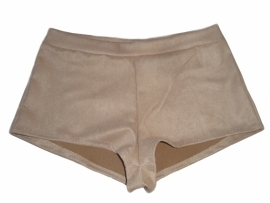 Suedine hotpants beige
