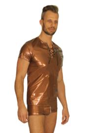 Lak shirt met rijgtouwtje