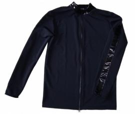 Zwart shirt met lak en rits