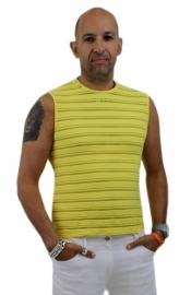 heren shirt gele streep