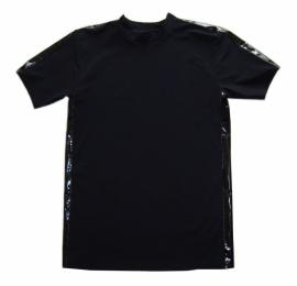 Zwart lycra shirt met lakstreep