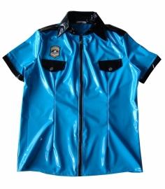 Heren lak shirt politie-look