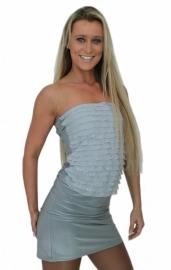 Strapless jurkje in zilvergrijs