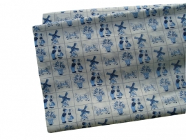 Delfts blauw all-over print lakentje