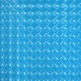 Turquoise stretch lak hologram met rek naar 4 kanten