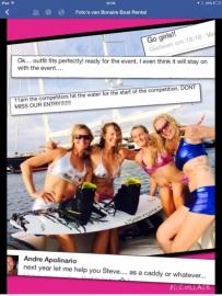 Bikini's voor wedstrijd in Bonaire