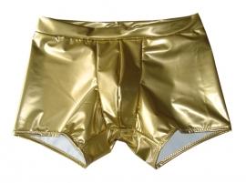 Gouden lak short heren langer pijpje