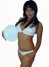Witte bikini met strass-steentjes