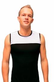 Zwart mouwloos heren shirt