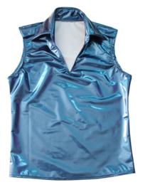 Blauw metallic met rek naar 4 kanten