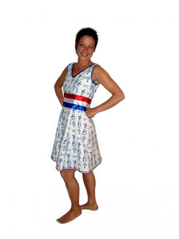 Delfts blauw jurkje Ik hou van Holland  zonder sjerp