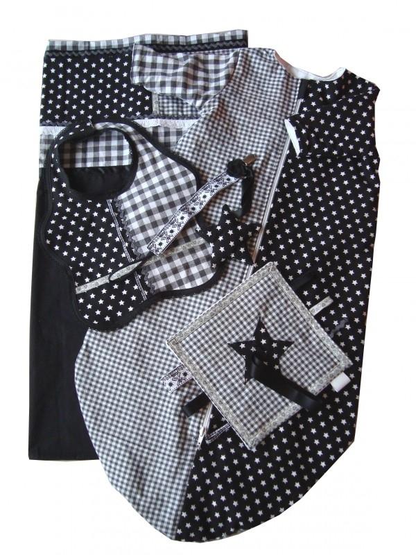Kraam kado in zwart wit
