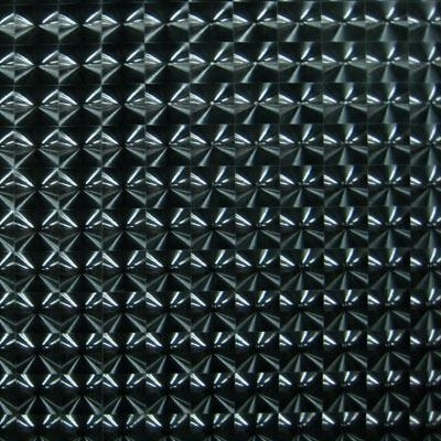 Zwart stretchlak hologram met rek naar 4 kanten