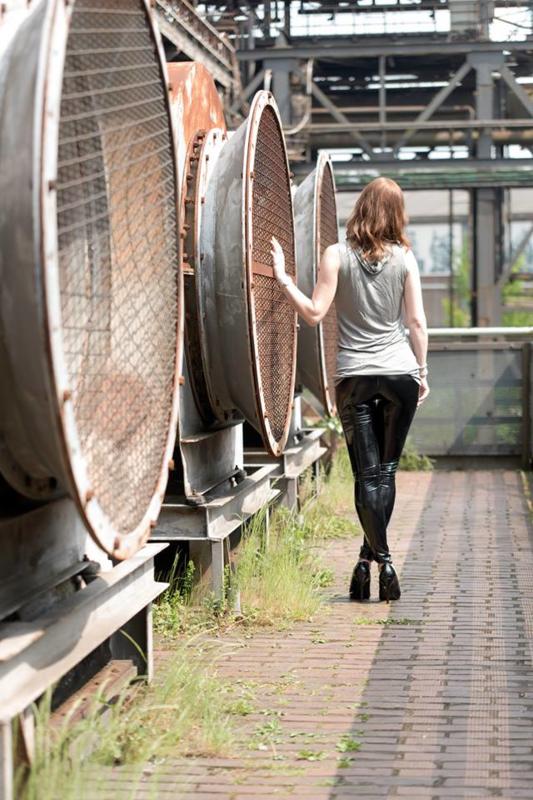 Zwarte lak broek/legging