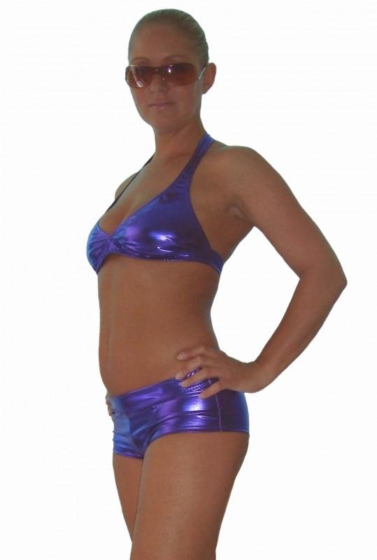 Paars metallic bikinitop