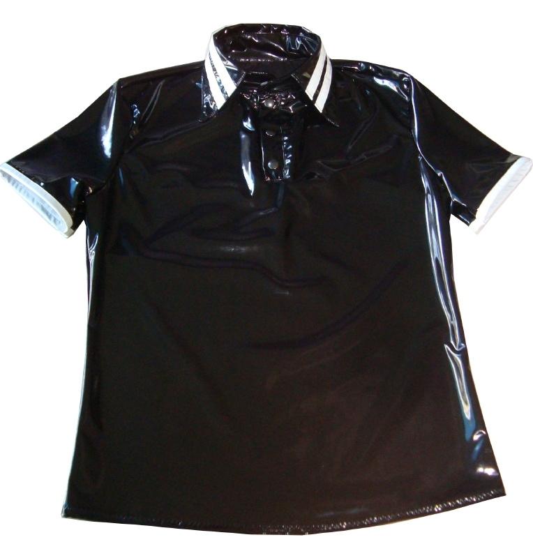 Heren lak polo shirt
