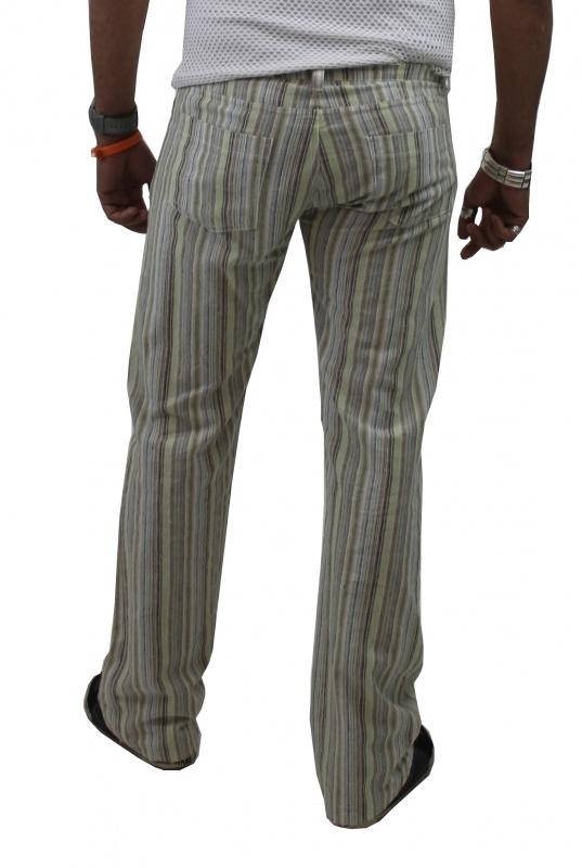 Streep linnen broek
