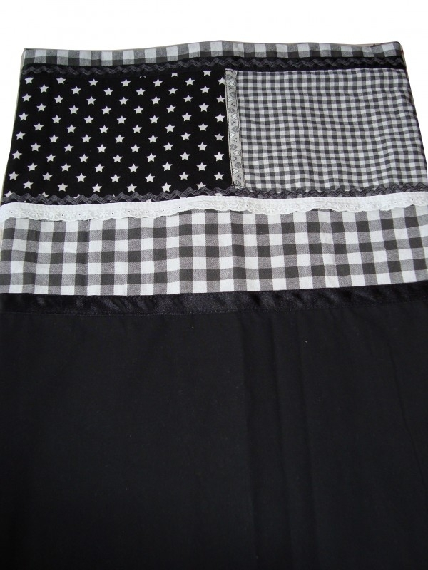 Zwart wit patch-work lakentje