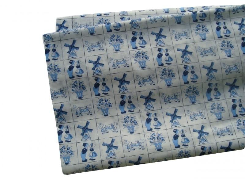 Delfts blauw all-over print lakentje