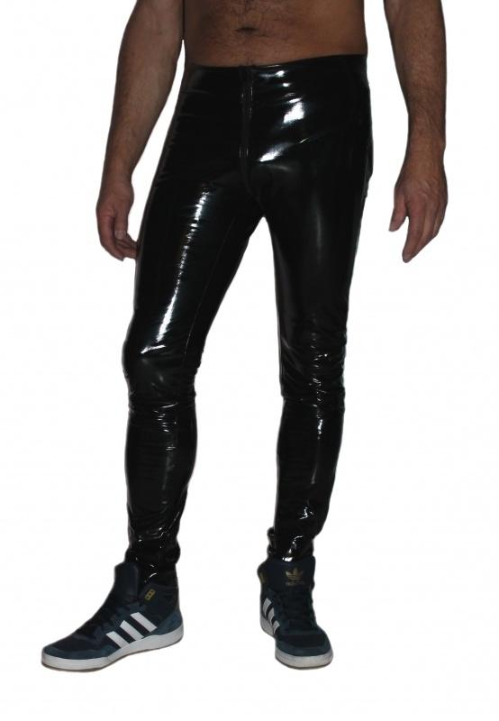 Heren skinny-legging lak broek