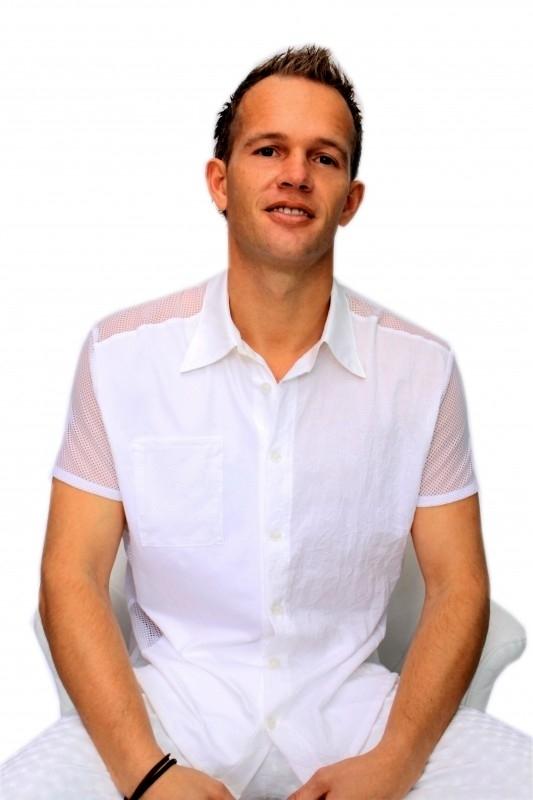 Witte heren blouse
