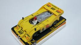 3202 Porsche Can-Am geel (spiegels zwart) (zeer goede staat)