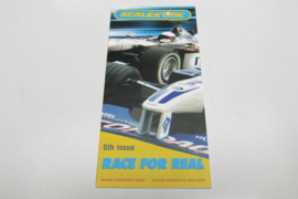 """Scalextric folder 5rd issue """"Race for real"""""""