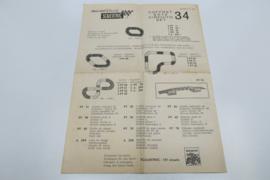 Scalextric instructieblad 34 nr. 104