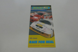 """Scalextric folder 4rd issue """"Race for real"""""""
